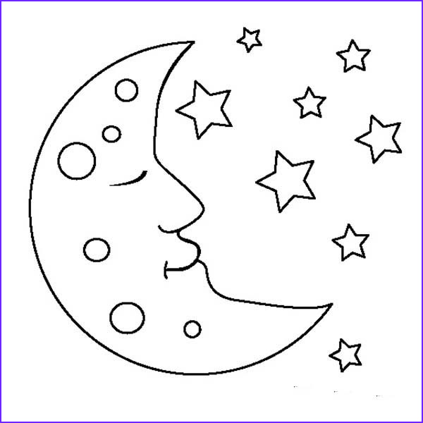 Moon Coloring Pages Unique Photos Moon is Sleeping Coloring Page Coloring Sky