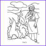 Moses And The Burning Bush Coloring Page Beautiful Images Moses Coloring Pages Free Printables Momjunction