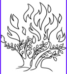 Moses And The Burning Bush Coloring Page Beautiful Photos Moses Coloring Pages