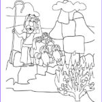 Moses And The Burning Bush Coloring Page Beautiful Stock 17 Best Images About Oude Testament On Pinterest