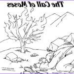 Moses And The Burning Bush Coloring Page Best Of Collection Moses Printable Coloring Pages