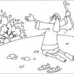 Moses And The Burning Bush Coloring Page Cool Photos Moses Plagues Coloring Pages At Getcolorings