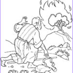 Moses And The Burning Bush Coloring Pages Awesome Stock Moses Coloring Pages Burning Bush Coloringstar
