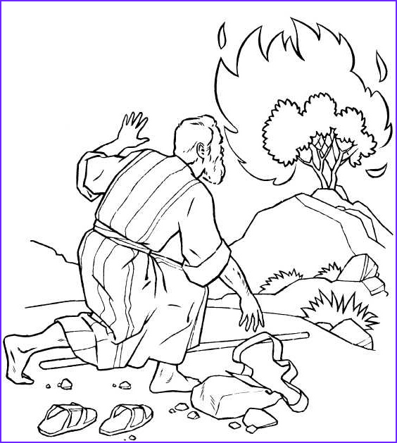 best moses coloring pages burning bush 9162