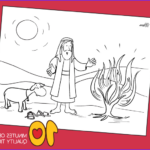 Moses And The Burning Bush Coloring Pages Beautiful Images Moses And The Burning Bush – Bible Coloring Pages – 10