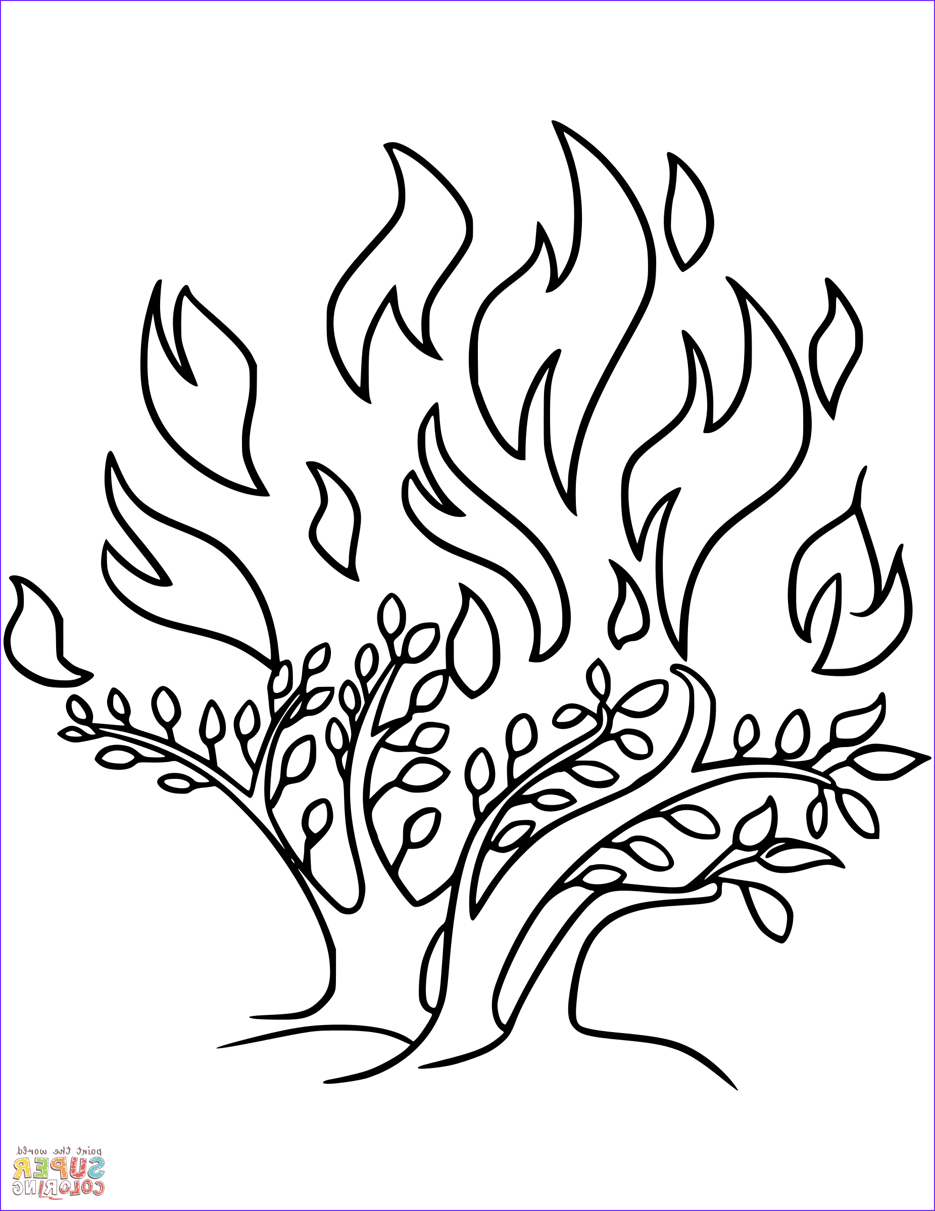 Moses and the Burning Bush Coloring Pages Best Of Photos the Burning Bush Coloring Page