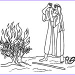 Moses And The Burning Bush Coloring Pages Best Of Stock Burning Bush Moses