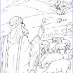 Moses And The Burning Bush Coloring Pages Cool Collection Free Printable Moses Coloring Pages For Kids