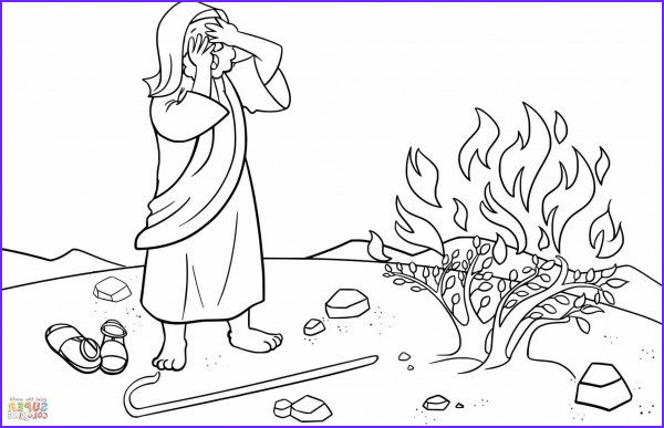 burning bush coloring pages
