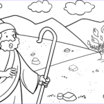 Moses And The Burning Bush Coloring Pages Cool Photos Moses & The Burning Bush Coloring Page