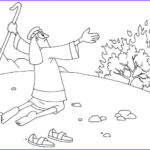 Moses And The Burning Bush Coloring Pages Elegant Images Printable Moses Coloring Pages