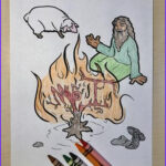 Moses And The Burning Bush Coloring Pages Inspirational Collection Moses And The Burning Bush Coloring Page – Children S