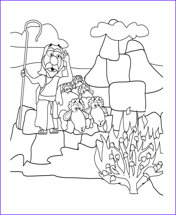 Moses and the Burning Bush Coloring Pages New Collection 17 Best Images About Oude Testament On Pinterest
