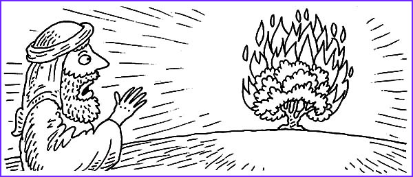 Moses and the Burning Bush Coloring Pages New Collection Burning Bush Moses