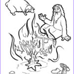 Moses And The Burning Bush Coloring Pages New Photos Moses And The Burning Bush Coloring Page – Children S