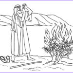 Moses and the Burning Bush Coloring Pages Unique Photos Print Version Moses and Burning Bush Coloring Page
