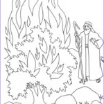 Moses Burning Bush Coloring Page Awesome Collection The Call Of Moses Colouring Pages