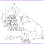 Moses Burning Bush Coloring Page Awesome Gallery Bible Quilt Free Coloring Pages