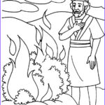 Moses Burning Bush Coloring Page Beautiful Photography Sunburn Coloring Pages