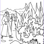 Moses Burning Bush Coloring Page Best Of Stock Printable Moses Coloring Pages For Kids