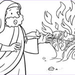 Moses Burning Bush Coloring Page Cool Images Moses And The Burning Bush Coloring Pages Collection
