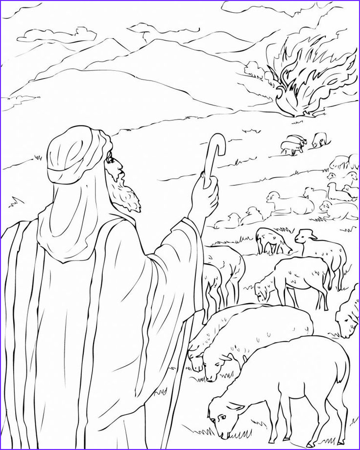 Moses Burning Bush Coloring Page Inspirational Gallery Free Printable Moses Coloring Pages for Kids