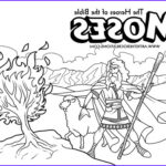 Moses Burning Bush Coloring Page Inspirational Photos The Heroes Of The Bible Coloring Pages Moses And The
