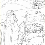 Moses Burning Bush Coloring Page Unique Images Free Printable Moses Coloring Pages For Kids