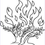 Moses Burning Bush Coloring Page Unique Stock Moses And The Burning Bush Activities For Kids