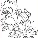 Moses Coloring Pages Awesome Images Burning Bush Moses