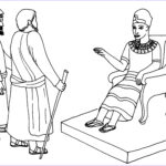 Moses Coloring Pages Elegant Collection Moses And Aaron Before Pharaoh Coloring Pages Now