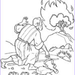 Moses Coloring Pages New Photography The Incredible Moses Burning Bush Coloring Page To
