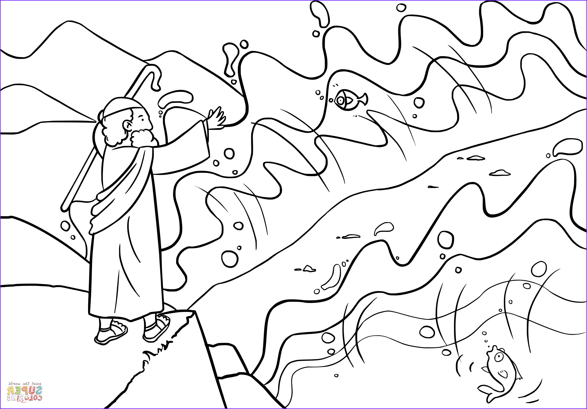 Moses Red Sea Coloring Page Awesome Photos Moses Parts the Red Sea Coloring Page