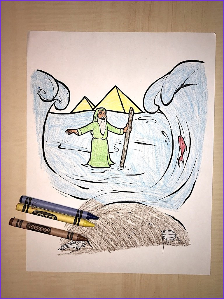moses coloring page 1