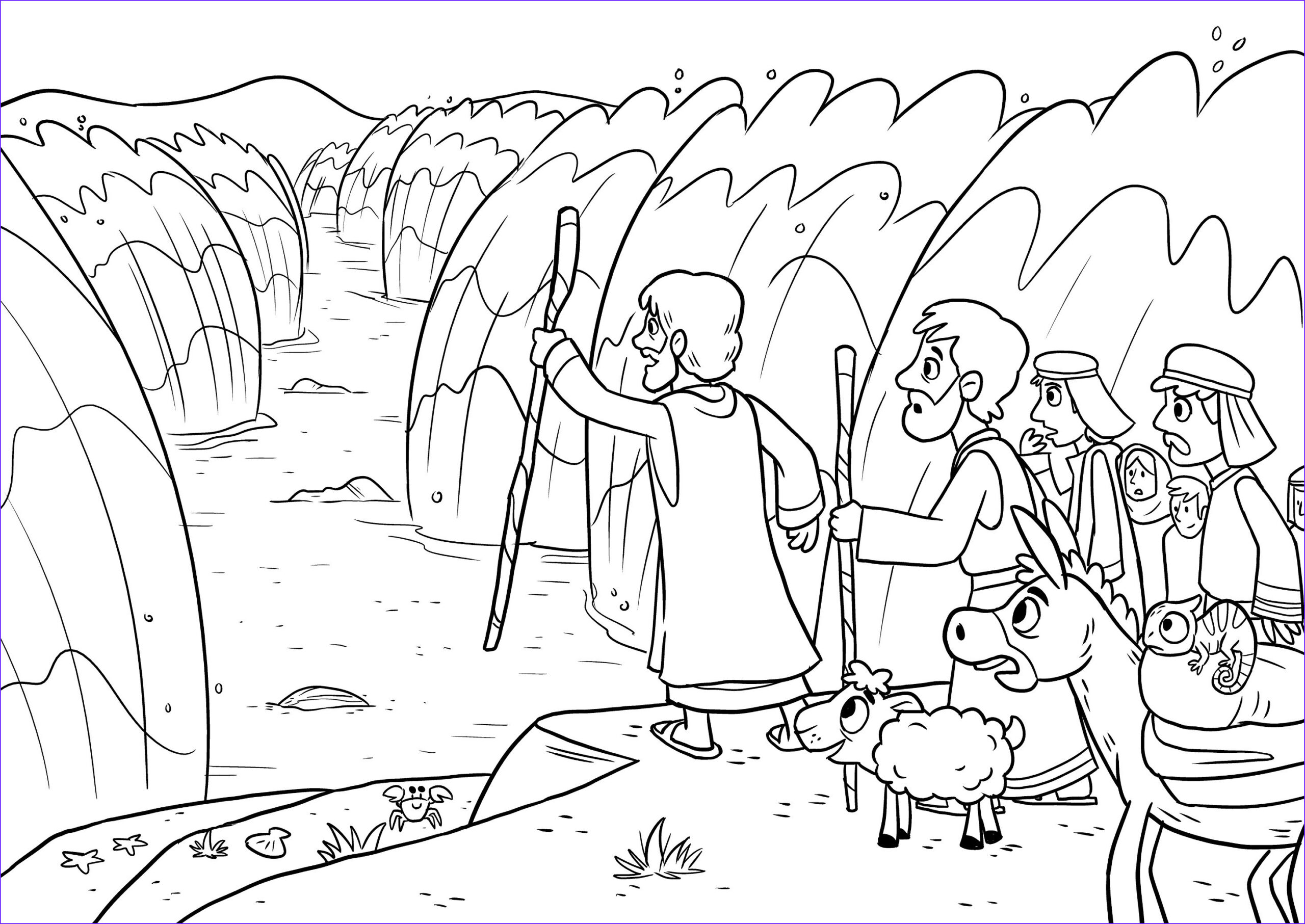 parting red sea coloring page new moses 10 plagues egypt and crossing the red sea bible craft in