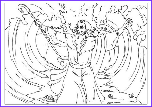 Moses Red Sea Coloring Page Beautiful Images 1000 Images About Moses Parting the Red Sea On
