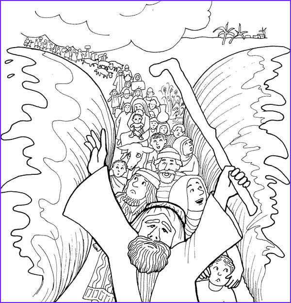 Moses Red Sea Coloring Page Beautiful Photography Moses Cloroing Pages
