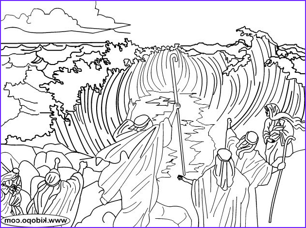Moses Red Sea Coloring Page Beautiful Photos 30 Best Images About Bible Story Coloring Pages On