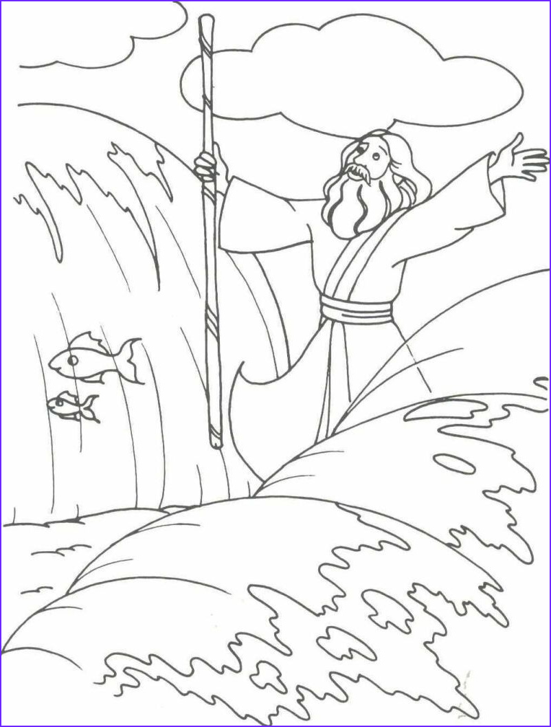 Moses Red Sea Coloring Page Beautiful Photos Moses and Quail Google Search