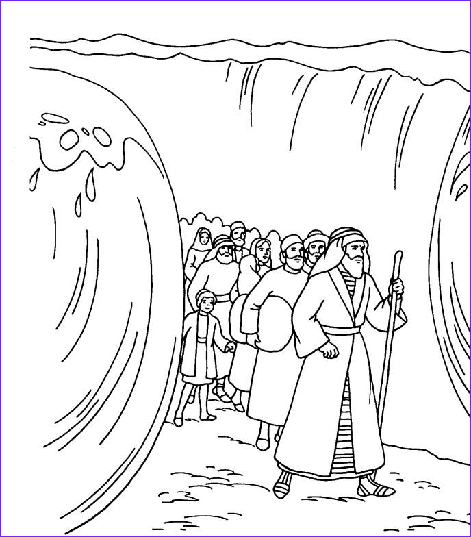 best moses coloring pages crossing the red sea 9143