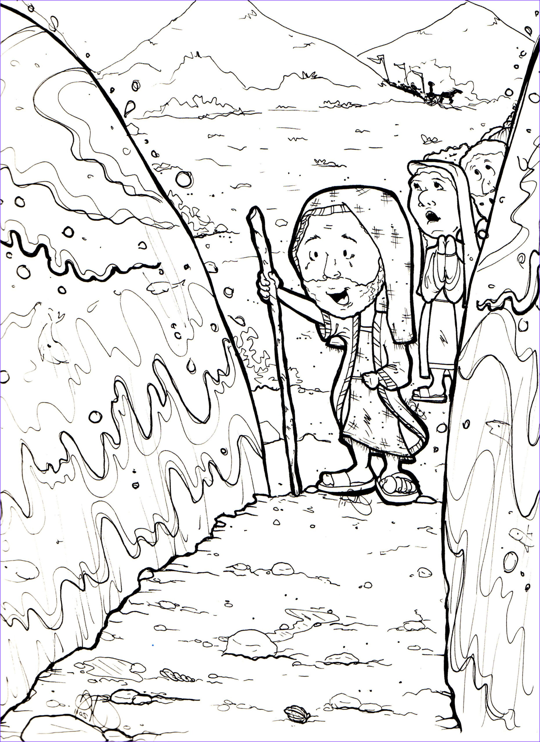 Moses Red Sea Coloring Page Elegant Stock Exodus Parting Of the Red Sea
