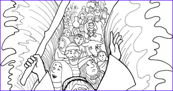 Moses Red Sea Coloring Page Luxury Image Moses Parting the Red Sea Coloring Page [israelites Cross