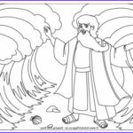 Moses Red Sea Coloring Page New Photography Moses Parting The Red Sea Colouring Page