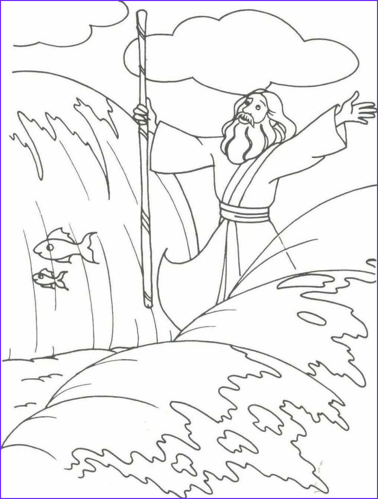 Moses Red Sea Coloring Page New Stock Moses and the Red Sea Coloring Page at Getdrawings
