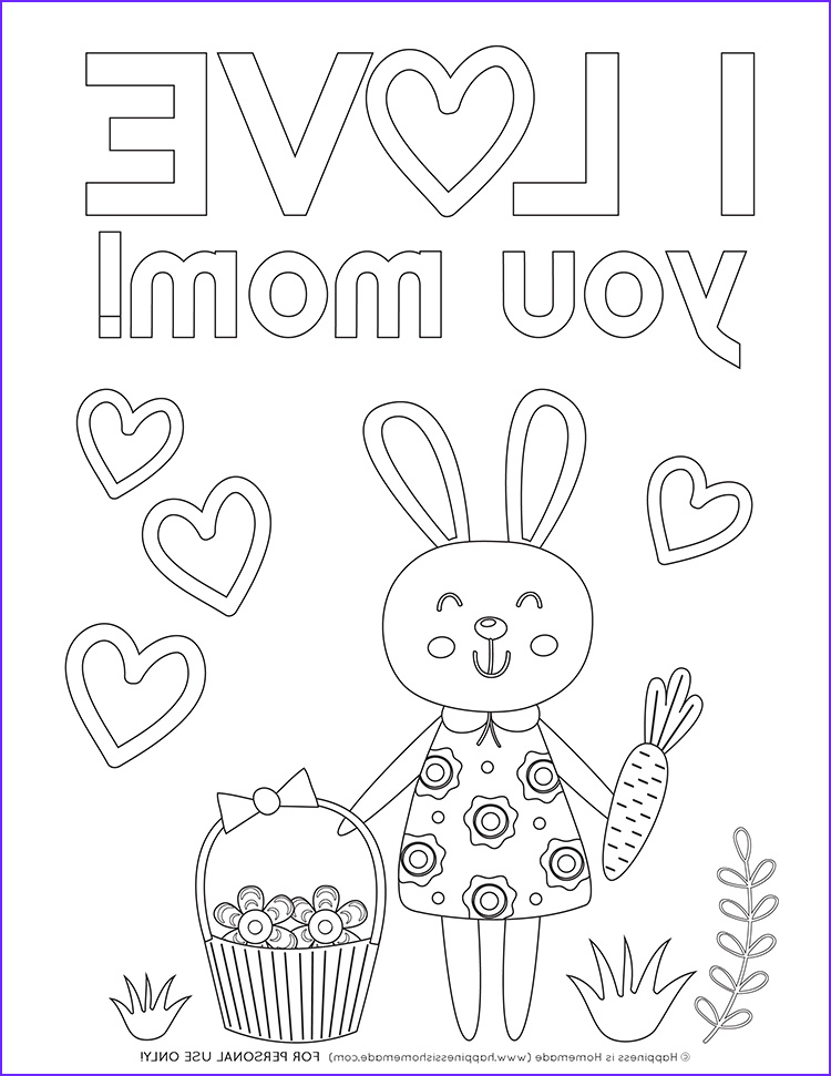 mothers day coloring pages free printables