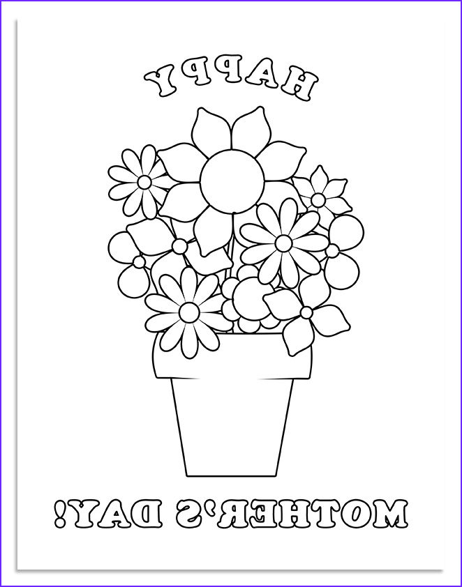 a free mothers day coloring page