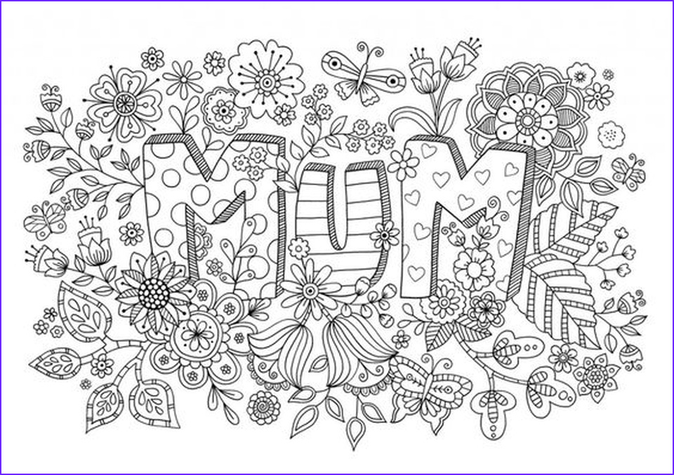 Mothers Day Coloring Sheet Awesome Photos 20 Free Printable Mother S Day Coloring Pages for Adults