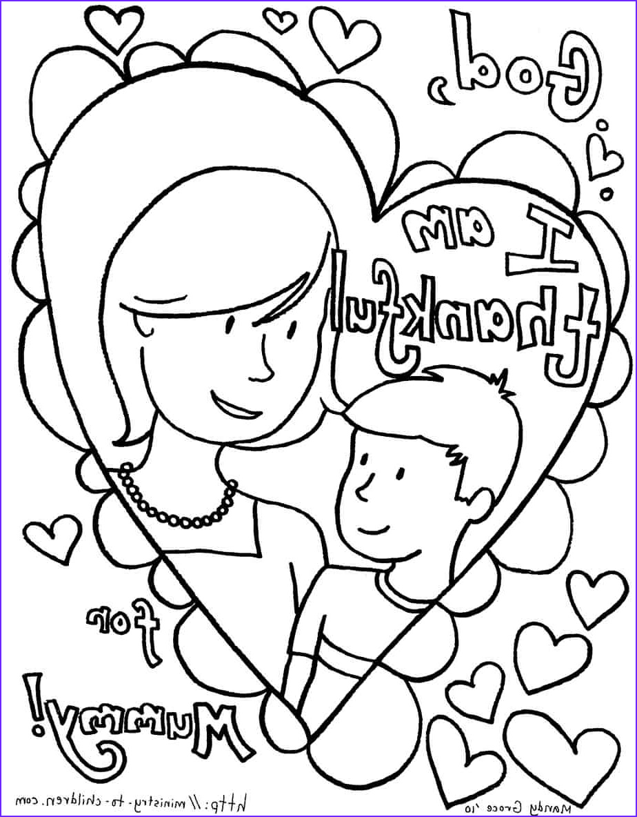 mothers day coloring page