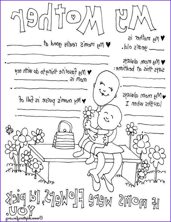 Mothers Day Coloring Sheet New Images 30 Free Mother S Day Prints Celebrate