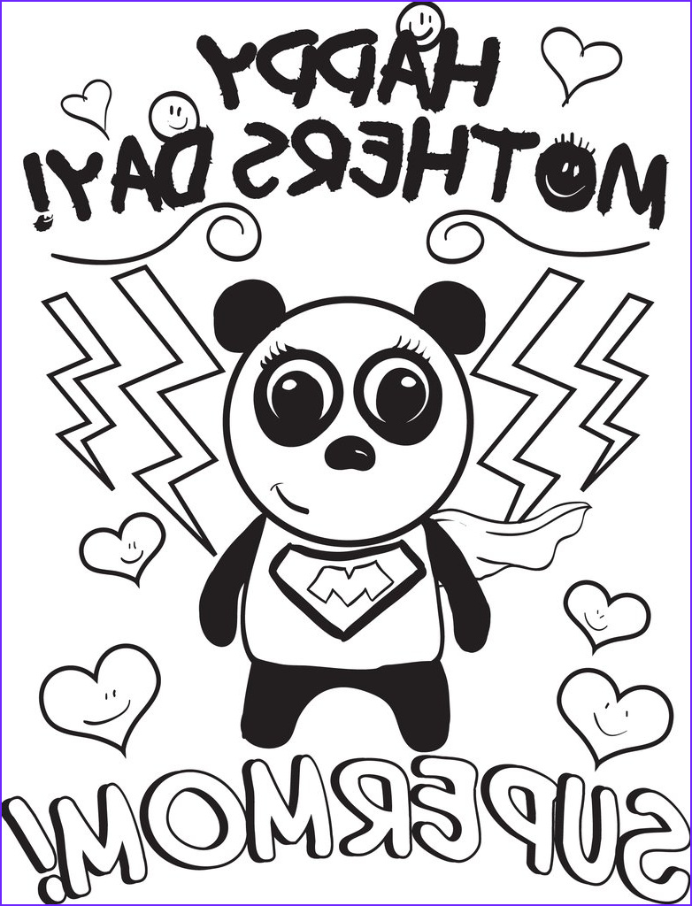 supermom mothers day coloring page a4168